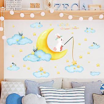 Cloud Moon Star Wall Sticker Art Decals