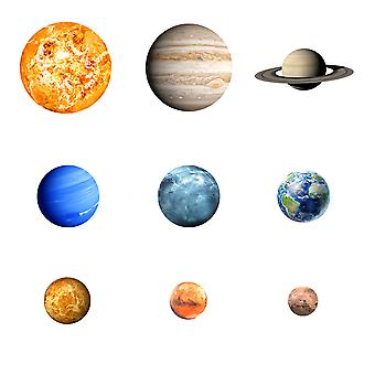 Homemiyn Nine Planets Luminous Wall Stickers Cool Atmosphere Glowing Wallpaper Children Astronomy Planet Learning