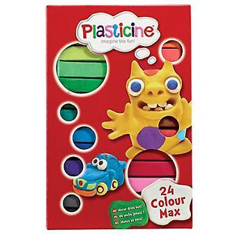 Plastilina Basix 24 färg Pack