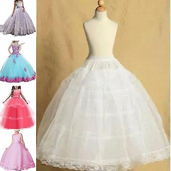 Toddler Petticoat Crinoline Underskirt Flower Tulle Dance Dress Puffy Skirt