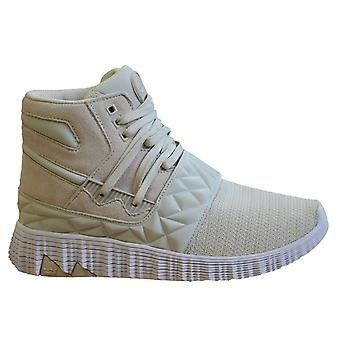 Supra Jagati Mens Hi Top Trainers White Bone Leather Lace Up Shoes 05665 047