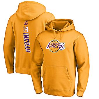 Los Angeles Lakers No.14 Ingram Pullover Hoodie Swearshirt Toppar 3WY301