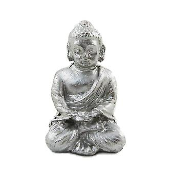 Dolls House Silver Sitting Buddha Ornament Miniature 1:12 Living Room Accessory