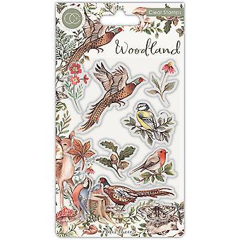 Craft Consortium Woodland Birds Stamps