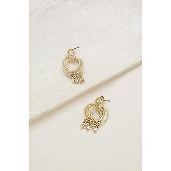 Mini Jingle Diamond Charms & 18kt Gold Plated Stud Hoops
