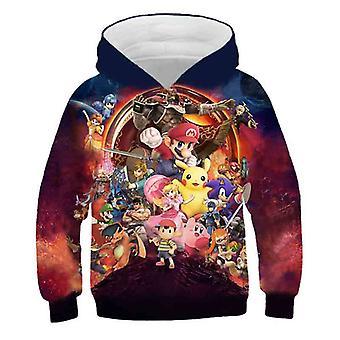 Super Mario 3d Print Hoodie Cartoon Clothing Hooded Sweatshirt Fashion
