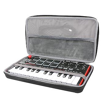 Travel hard case for akai professional mpk mini mkii 25-key portable usb midi keyboard by co2crea si