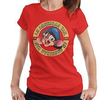 Amerikkalainen häntä 1986 Fievel Mousekewitz Character Head Naiset's T-paita