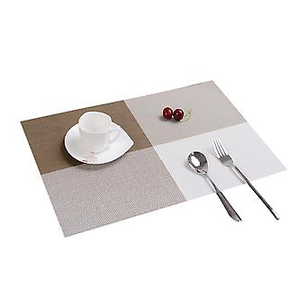 Homemiyn 4 Pieces Teslin Crossweave Woven Vinyl Non-slip Insulation Placemat Washable Table Mats