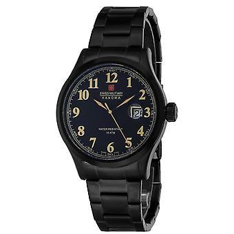 Reloj masculino militar suizo Hanowa 06-5248.13.007, cuarzo, 42 mm, 10ATM