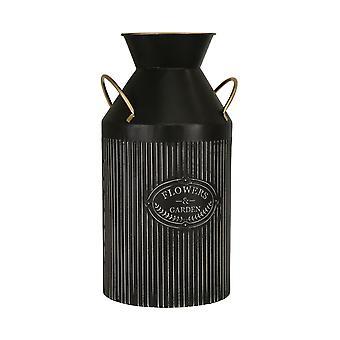 """Metall 16"""" Behandeltgarten Vase, schwarz"""