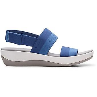 Clarks arla jacory sandálias mulheres azul