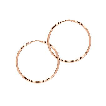 The Hoop Station Chica Latina Rose Gold Plated 39 Mm Hoop Earrings H220R