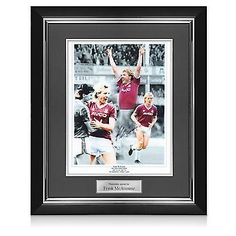 Frank McAvennie Signed West Ham Photo. Deluxe Frame
