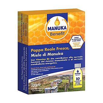 Manuka Benefit Fresh Royal Jelly, Manuka Honey, Vitamin B6 10 vials of 10ml