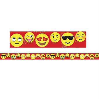 "Borders/Trims, Magnetic, Rectangle Cut - 1-1/2"" X 24"", Emoji Theme, 24' Per Pack, 2 Packs"