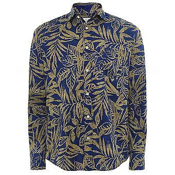 Hartford Regular Fit Leaf Print Paul Shirt