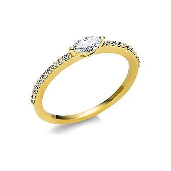 Luna Creation Promessa Solitairering z bocznym wykończeniem 1U614G854-8 - Szerokość pierścienia: 54
