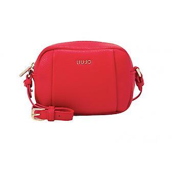Liu-jo Crossbody Sac Bandoulière M Beauty In Red Faux Leather Bs21lj51 Aa1107