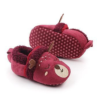غير زلة أحذية الصوف الناعمة الدافئة
