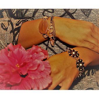 Rose Quartz & Crystals Romance Bracelet