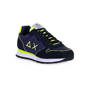 Sun68 07 tom nylon fluo navy sneakers fashion