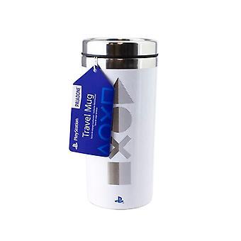 PlayStation Travel Mug White PS5 Edition Commuter Flask 450ml