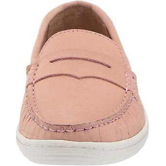 Driver Club USA Unisex Genuine Leather Casual Comfort Slip On Moccasin Penny Loafer Driving Style, blush nubuck 11.5 M US Little Kid