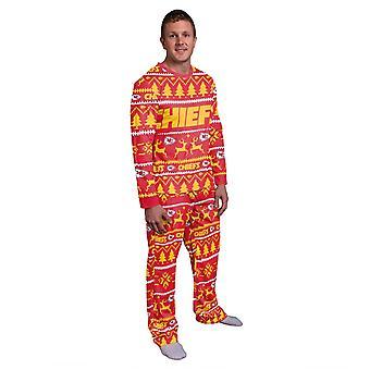 NFL Zimné XMAS Pyžamá Pyžamá - Kansas City Chiefs
