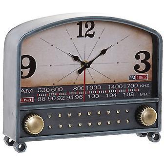 Table clock Dekodonia Metal MDF Wood Radio (26 x 7 x 21 cm)