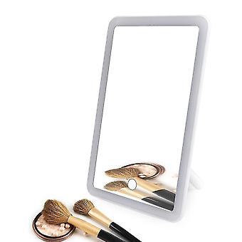 أدى الشاشة التي تعمل باللمس ماكياج مرآة 180 درجة تدوير مستحضرات التجميل مرآة usb شاحن الوقوف لوقوف غرفة نوم الحمام الطاولة السفر