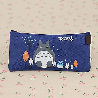 Cute Fabric Pencil Case Lovely Cartoon Totoro Pen Bags