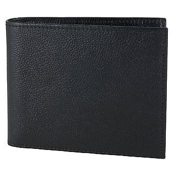 David Aster RFID Lined Billfold Wallet - Black