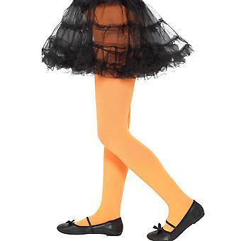 Collants opaques orange enfant