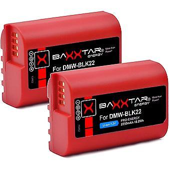 Pro (2X) Akku DMW BLK22 BLK22E (2250mAh) - kompatibel mit Panasonic DC-S5 DC-S5K G9 GH5 GH5S
