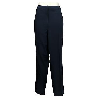 Susan Graver Femmes & s Pants Plus City Stretch Zip Front Slim Blue A373728