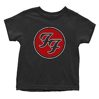 Foo Fighters Toddler T Shirt FF Logo nou Oficial Negru 12 luni la 5 ani