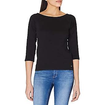 TOM TAILOR Denim off Shoulder T-Shirt, 14482-Deep Black, XXL Women