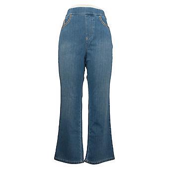 Belle por Kim Gravel Jeans Petite Flexibelle Bootcut Azul A301836