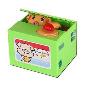 Piggy bank for kids coin money atm birthday steal money cat panda electric cq12