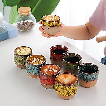 Uunista tulee kahvikupin rikastus Luova virtaus Lasite Master Cup Stoneware Retro Tea Cup