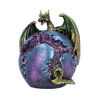 Statuetta del drago verde del custode della fessura
