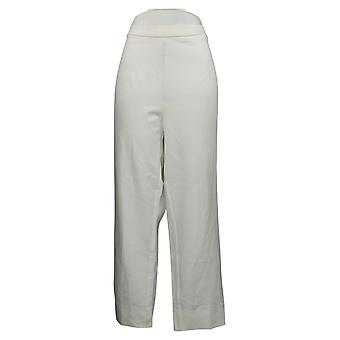 Dennis Basso Pantalones de mujer Plus Ponte Knit Pull On Ankle White A373950