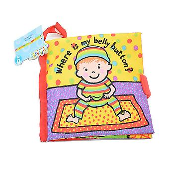 Where Is My Belly Button Non-toxic 3d Cloth Book Interactive Fabric Book For Infant