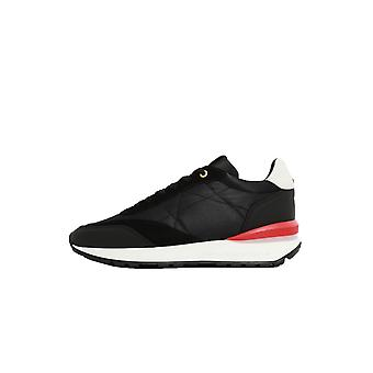 Android Homme Marina Del Ray Trainer Black/red Suede Nylon