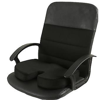 Cojín de asiento de espuma de memoria para asientos de coche, oficina en el hogar y Cojín de viaje (negro)