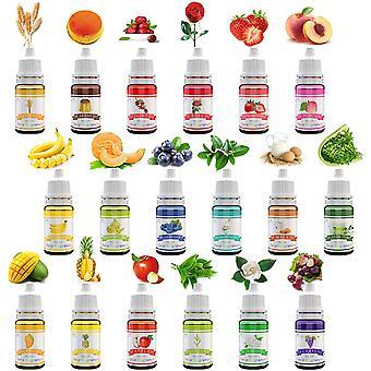 18 Seifenduftöl - Flüssig Duftöl Seifen Duft Set zur Badekugeln, Seifenherstellung, Schleim -