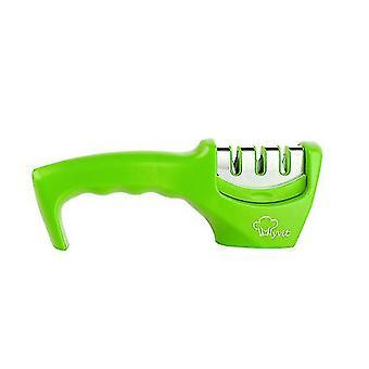 Knife Sharpener 3 Stages Professional Kitchen Sharpening Stone - Tungsten(Green)