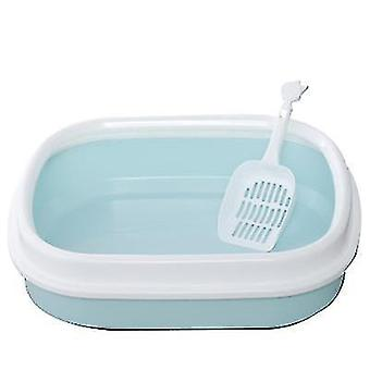 Macska alom doboz Félig zárt Macska WC alom doboz macska alom lapáttal (Kék)