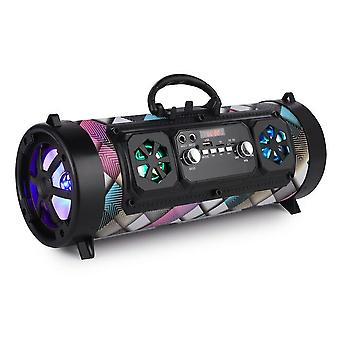 Portable Stereo Bass Wireless Bluetooth Speaker With Fm Radio And Subwoofer